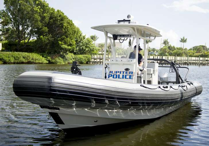 Jupiter's new 300-horsepower inflatable police boat can hit